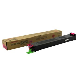 Sharp originální toner MX-31GTMA, magenta, 15000str., Sharp MX 2301N, 2600N, 3100N, 4100N, 4101N, 5000N, 5001N