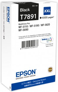 Epson T7891 - originální černý inkoust XXL, C13T789140, 34,2 ml