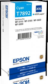 Epson T7892 - originální azurový inkoust XXL, C13T789240, 34,2 ml
