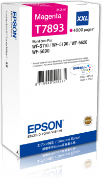 Epson T7893 - originální purpurový inkoust XXL, C13T789340, 34,2 ml