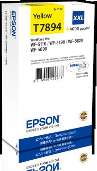 Epson T7894 - originální žlutý inkoust XXL, C13T789440, 34,2 ml