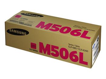 Samsung CLT-M506L - originální purpurový toner, HP SU305A, 3500str., high capacity, pro CLP-680, 680ND, CLX-6260