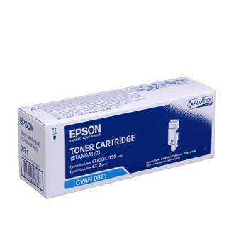 Toner Epson C13S050671 azurový (cyan), 700str., Epson Aculaser C1700, C1750, CX17 series