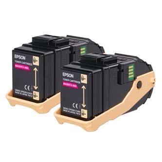 Toner Epson C13S050607 purputový (magenta), 15000str., Epson Aculaser C9300N, double pack