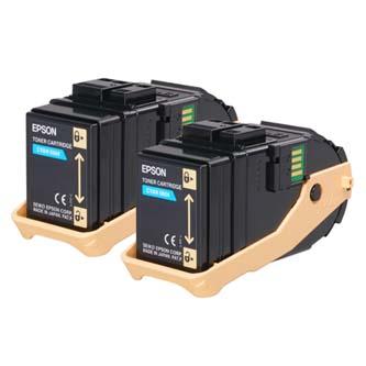 Toner Epson C13S050608 azurový (cyan), 15000str., Epson Aculaser C9300N, double pack