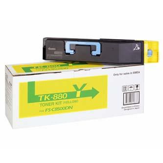 Toner Kyocera TK880Y, yellow, 18000str., Kyocera Mita FS C8500DN