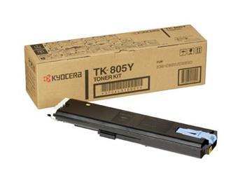 Toner Kyocera TK805Y, yellow, 10000str., Kyocera Mita KM-C850