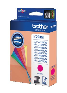 Brother originální ink LC-223M, magenta, 600str., Brother MFC-J4420DW, MFC-J4620DW