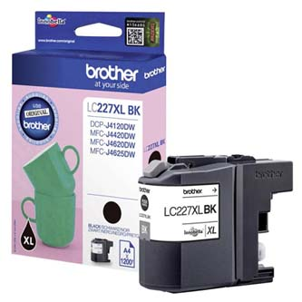 Brother originální ink LC-227XLBK, black, 1200str., Brother MFC-J4420DW, MFC-J4620DW