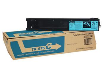 Toner Kyocera TK875C, cyan, 31800str., Kyocera Mita 550C, 650C, 750C
