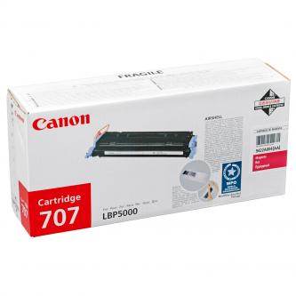 Toner Canon CRG-707M originální, purpurový (magenta)