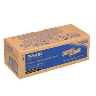 Toner Epson C13S050631 černý (black), 6000 (2x3000)str., Epson Aculaser C2900N, 2ks