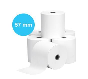 Pokladní kotouček papírový 57/60/12 (80 kusů v krabici, 60 g)
