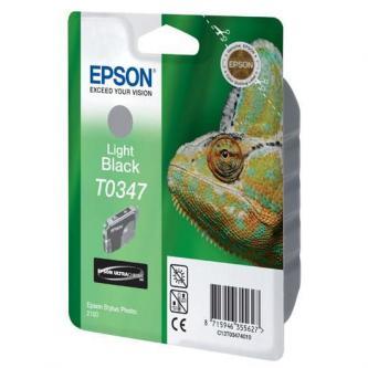 Epson T0347 - originální světle černý inkoust, 17ml, expirovaný