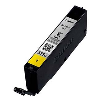 Canon originální ink CLI571Y XL, yellow, 11ml, 0334C001, high capacity, Canon PIXMA MG5750, MG5751, MG5752, MG5753, MG77