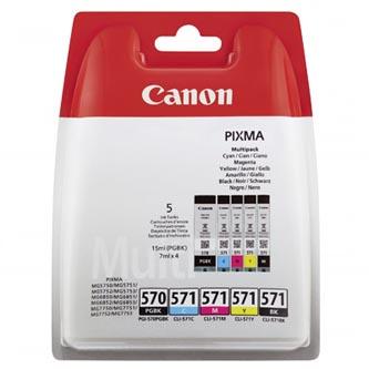 Canon 0372C004 - originální sada inkoustů PGI-570/CLI-571 PGBK/C/M/Y/BK, Canon Pixma MG575x, MG68
