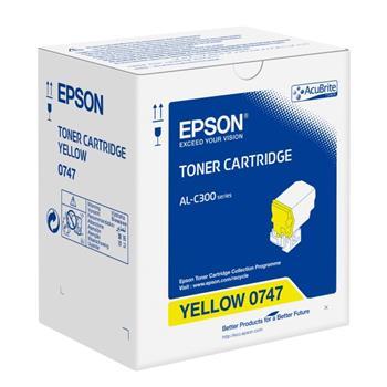 Epson originální toner C13S050747, yellow, 8800str., Epson WorkForce AL-C300N