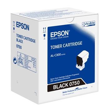 Epson originální toner C13S050750, black, 7300str., Epson WorkForce AL-C300N