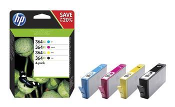 HP N9J74A - originální sada inkoustů HP 364XL, CMYK, HP Photosmart C5393, Plus B209, Premium C309