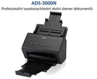 BROTHER skener ADS-3000N (až 50 str/min, 600 x 600 dpi, aut. duplex,256MB, USB 3.0) Ethernet