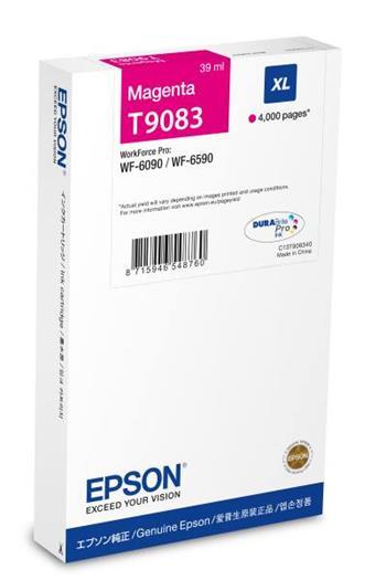 Epson C13T908340 - originální purpurová náplň pro Epson WF-6xxx Series, 39 ml
