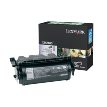 Toner Lexmark 12A7460, černý (black), 5000str., return, Lexmark T630, T632, T634, X630, X632e