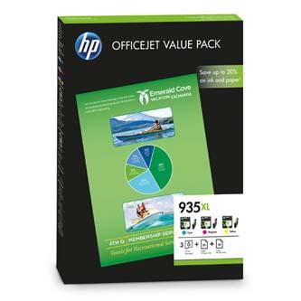 HP F6U78AE - originální inkousty HP 935XL, cyan/magenta/yellow, HP Officejet 6815 Officejet Pro 6230 ePrinter, 6830