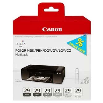 Canon 4868B018 - originální PGI-29 MBK/PBK/DGY/GY/LGY/CO Multi pack, black/color, 4868B018, Canon Pixma Pro 1