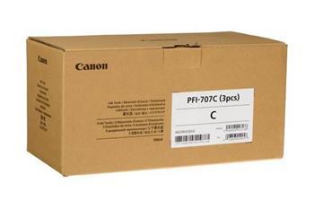 Canon originální ink PFI707C, cyan, 3X700ml, 9822B003, Canon iPF-830, 840, 850