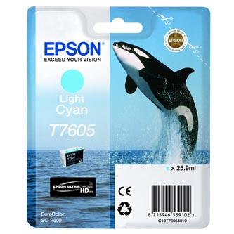 Epson originální ink C13T76054010, T7605, light cyan, 25,9ml, 1ks, Epson SureColor SC-P600