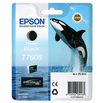 Epson originální ink C13T76084010, T7608, matte black, 25,9ml, 1ks, Epson SureColor SC-P600