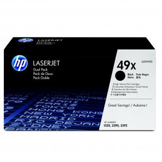 HP Q5949XD - originální černý toner HP 49X pro LJ 1320, 339x (2 kusy v balení)